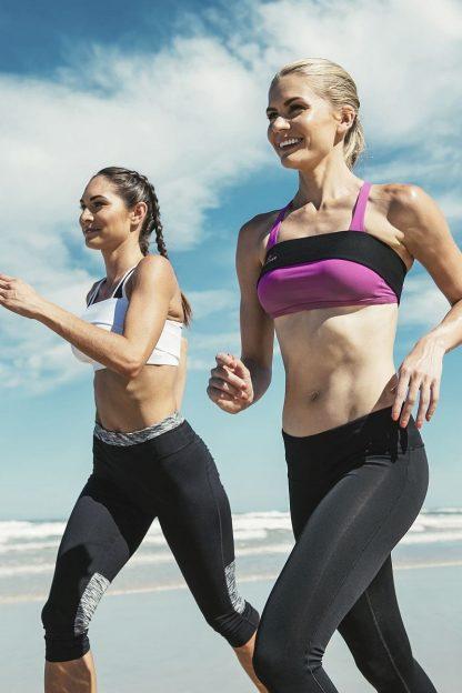 PINKCLOVER Breastband, Black White, Beach Run
