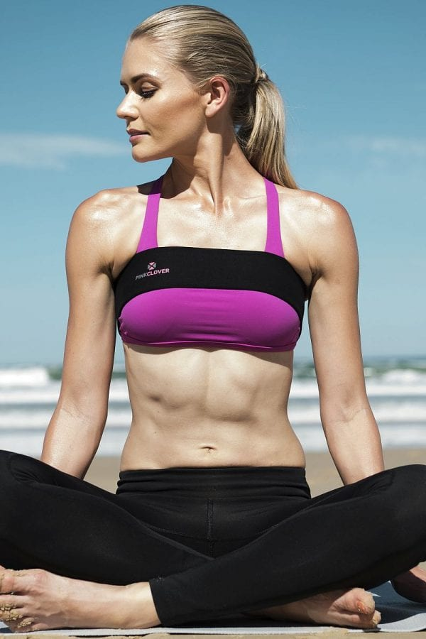 PINKCLOVER Breastband, Black, Beach Yoga