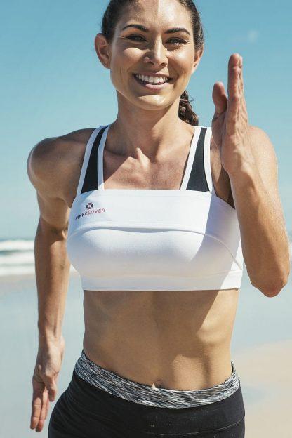 PINKCLOVER Breastband, White, Beach Run