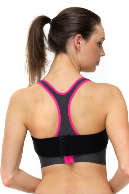 Pink Clover Breastband_Black_Back View