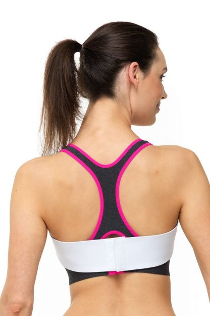 Pink Clover Breastband_White_Back View